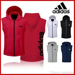 $enCountryForm.capitalKeyWord Australia - 2019 Brands Spring Men's Sleeveless Hoodies Fashion Hoody Sweatshirt Fit Slim Casual Zipper Pocket Men Vest Jacket Hoodies free shippin