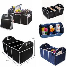 $enCountryForm.capitalKeyWord Australia - Foldable Fabric Non-woven Car Organizer car trunk Toy Food Container Box Bag Storage Trunk Box Portable Bag Storage Case 2color FFA110 20PCS