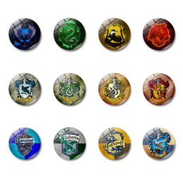 harry potter glasses NZ - New Harry Potter Glass Cabochon Fridge Magnet 4 School Sign Refrigerator Magnet Fans Home Décor Drop Shipping