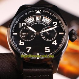 $enCountryForm.capitalKeyWord Australia - High Quality 1940 Large Pilot Watches IW502703 Black Dial Big Day Date Automatic IW502701 Mens Watch Black Case Leather Strap Sports Watches