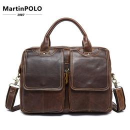 "$enCountryForm.capitalKeyWord NZ - Genuine Leather Men Briefcases Genuine Leather Antique Retro Business Briefcase 14"" Laptop Bag Men Shoulder Bags Messenger Bag"