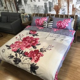 Washable Suits Australia - 6 Styles 3D Flower Printing 4pcs Suit Bedding Sets Oil Painting Quilt Cover Luxury Sheet Home Textile Bedding sets CCA10196 12pcs