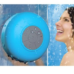 Sucker Mini Speaker Australia - Waterproof Wireless Bluetooth Speakers Dustproof Mini Speaker Handfree Sucker BTS-06 Portable Speakers Bluetooth Button Control Mini Portabl