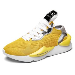 Discount men fashion summer trend shoes - 2019 New Trend Shoes for adults Breathable Mesh male Lightweight Sneakers Fashion Comfortable casual shoes Zapatos de ho