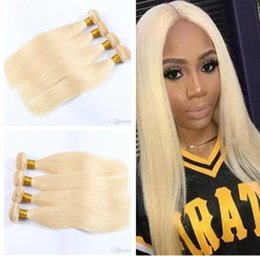$enCountryForm.capitalKeyWord NZ - 8A Peruvian Straight Hair 100% Human Hair Extensions #613 Color 8-30 Inch 4 PCS Human Hair Weaving Blonde Bundles