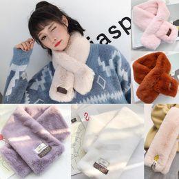 Fur Scarf Wholesaler Australia - Luxury Winter Scarf For Women Brand Designer Wool Cotton Brand Mens Scarf Fashion Women Colorful Letter Designer Winter Warm Fur Scarve
