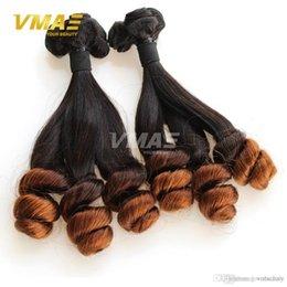 $enCountryForm.capitalKeyWord Australia - 3 Pcs Lot Brazilian Virgin Funmi Hair Straight to Loose Wave True Length Thick End Virgin Brazilian Hair Weave Bundles