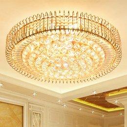 $enCountryForm.capitalKeyWord Australia - New modern crystal chandeliers lightings gold round American chandelier living room bedroom LED ceiling lamps European noble crystal lights