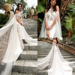 mermaid halter neck wedding dress NZ - Innocentia Divina 2019 Wedding Dresses Halter Neck Sexy Backless Long Sleeve Bridal Gowns Sweep Train Mermaid Wedding Dress robe de mariée
