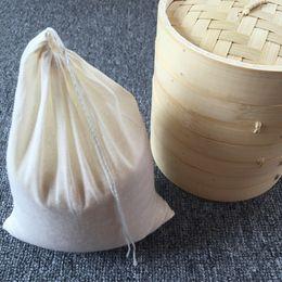 $enCountryForm.capitalKeyWord Australia - 10pcs lot 8 10 13 20 30 40cm all sizes cotton sack gunny cloth drawstring bags, Gunny, water boil bag milk coffee