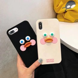 Discount ducks iphone - Hope Cute duck Mobile Shell Cover For iphone xs xr xsmax cases full protect big eyes cases for iphone 6 7 8 plus soft