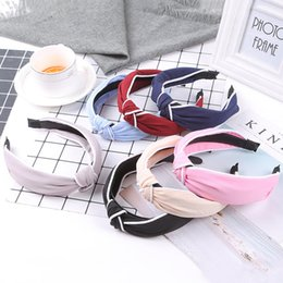 Hair Color Edges Australia - Women Elastic tie Hair hoop White edging Headbands Fashion Solid color matching Hair Accessories
