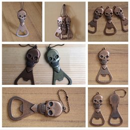 $enCountryForm.capitalKeyWord Australia - Metal beer bottle opener creative skull bottle opener portable key pendant accessory delicate beer bottle opener T3I5072
