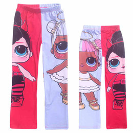 $enCountryForm.capitalKeyWord NZ - 2019 new design suprise girl printed children leggings in autumn spring kids lovely cute trousers slim pant Baby girl cartoon pants