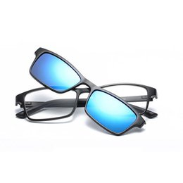 c73f5b4469 Fashion Clip On Sunglasses Men Women Frames Clips Magnetic Sunglasses  Magnet eyeglasses men Clip glasses UV400
