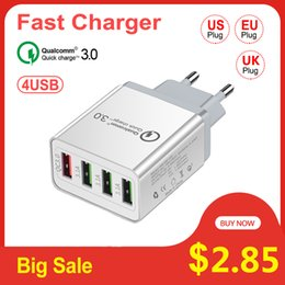 $enCountryForm.capitalKeyWord Australia - Vitog 4 Port Quick Charge 3.0 USB Charger for Samsung iPhone 7 8 X Huawei P20 Tablet QC 3.0 Fast Wall Charger US EU UK Plug