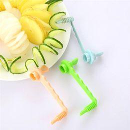 Spiral Cutters Australia - spiral slicer EZLIFE Plastic Vegetable Spiralizer Slicer Random Color Kitchen Cutting Tools Gadget Potato Cutter Twister Spiralizer Dropship