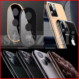 iphone screens Australia - Back Camera Lens Screen Protector For iphone 11 Pro XS Max XR X Ring Metal Rear Case Tempered Glass Film Fashion Protective Case