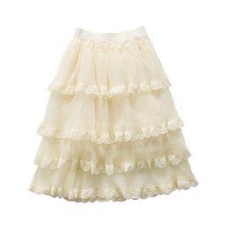 $enCountryForm.capitalKeyWord Australia - Boutique Girls Tutu Skirts lace chiffon Girls Skirts 2019 new Summer kids Tiered Skirts long Children Skirt princess girls dress A3937