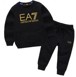 Boys tracksuits sets online shopping - Hot Designer Brands Baby Autumn Clothes Set Kids Boy Girl Top Pants Suits Tracksuit Outfits enfants years enfants Sets
