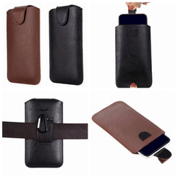 iphone leather case clip Australia - Universal Hip Holster PU Leather Clip Case For Iphone 11 Pro MAX XR XS X 8 7 Galaxy Note 10 S10 S20 Push Hasp Hook Belt Purse Phone Pouch