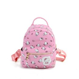 f22ff30eae Cute Hello Kitty Mini Children Cartoon School Backpack For Girls Travel  Lovely Embroidery Appliques School Bags Dm46