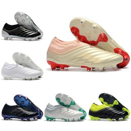 8cedc240a New Mens High Ankle Football Boots Copa 19+ Firm Ground Cleats Original  Copa 19 FG Outdoor Soccer Shoes