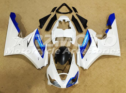 Discount triumph 675 blue white fairing New ABS Injection Mold Motorcycle Fairings Kit Fit for Triumph Daytona 675R 675 2006 2007 2008 06 07 08 White Blue