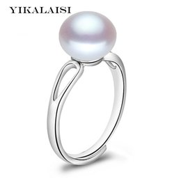 $enCountryForm.capitalKeyWord Australia - ashion Jewelry Rings YIKALAISI 925 Sterling Silver Natural Freshwater Pearl Fashion Ring jewelry For Women 8-9mm Pearl adjustable Ring 4...