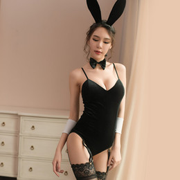 Chinese  Hot Bunny Girl Rabbit Costumes Women Sexy Halloween Adult Animal Costume Fancy Dress Clubwear Party Wear Sexy Babydoll Erotic manufacturers