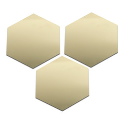 Modern Package Design UK - 12pcs Shiny Crystal Hexagon Wall Stickers Home Decoration