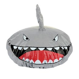 $enCountryForm.capitalKeyWord Australia - Novelty Design Animal Waterproof Shower Cap Bath Dry Hair Cover Protector Hat gray
