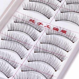 long lower eyelashes Australia - 10 Pairs Crisscross Handmade Lower Eyelashes Imitation Hair Lashes Makeup False Eyelashes Emulate Fake Eye Lash Extension