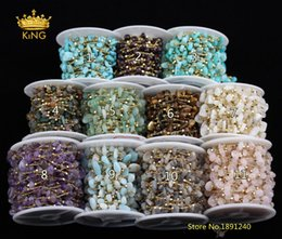 $enCountryForm.capitalKeyWord Australia - 11 Stones choice,5meters 5-8mm Chips Beaded Chains Findings,Plated Gold Charms Copper Nugget Beads Rosary Chains Chokers HX206