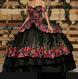 Off white dress red lining online shopping - 2019 Romantic Off The Shoulder Evening Dresses Print D Flowers Appliques A Line Tiered Skirts Formal Occasion Prom Party Dresses Custom Mad