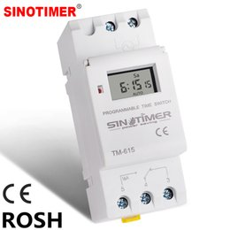 din rail switches UK - Tools SINOTIMER Brand Electronic Weekly 7 Days Programmable Digital TIME SWITCH Relay Timer Control AC 220V 230V 16A Din Rail Mount