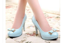 $enCountryForm.capitalKeyWord Australia - 2019 Women's shoes in Spring and Autumn with New style High heel fine heel round head bowknot waterproof table@309