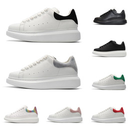 White suede shoes for men online shopping - 2020 designer shoes for men women fashion platform sneakers triple black white leather suede mens comfortable flat casual shoe size