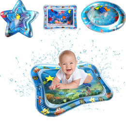 Baby Kids Inflatable Water Play Mat Inflatable Thicken PVC infant Time Playmat Toddler Fun Activity Play Center Water Mat for baby M555 on Sale