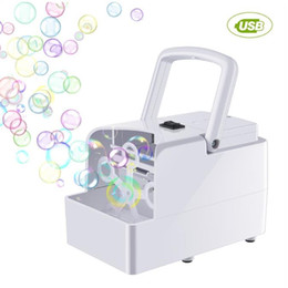 Wholesale Bubble Machine Automatic Bubble Blower Party Birthday Wedding Bubble Maker Summer Outdoor Toy for Kids Dropshipping