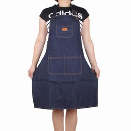 $enCountryForm.capitalKeyWord Australia - Denim Apron Cook Men And Women Waiter Milk Tea Shop Work Aprons Thickening Coverall cooking Durable home kitchen clothes dress FFA2605