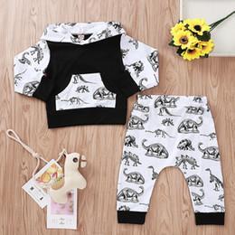 $enCountryForm.capitalKeyWord Australia - Baby Boys Hoodies Dinosaur Tops+Pants Suits Fall 2019 Kids Boutique Clothing Euro America Infnat Toddlers Long Sleeves 2 PC Set