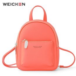 womens mini backpacks Australia - Weichen New Women Mini Backpack Soft Touch Multi-function Female Small Backpack & Shoulder Bag Womens Bagpack Ladies BolsosMX190824
