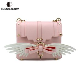 238ceaae9f28c 2018 New Hot Japanese Style Wings Bow Women Lady Shoulder Bags Eight  Different Color Optional Accessories Crossbody Bags