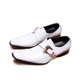 $enCountryForm.capitalKeyWord Australia - Fashion Men Leather Shoes Genuine Leather Dress Shoes for Men White Leather Wedding Shoes Male Zapatos Hombre Big US12