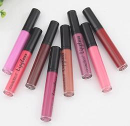 Lipstick 24 Hours Australia - 8 Colors Sexy Fashion Liquid Lipstick 24 Hours Long Lasting Makeup Matte Lip Gloss Red Purple Velvet Pigment Lip Gloss Beauty