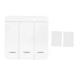 wireless home switch for lights 2019 - RF Smart Wall Light Switch 1 2 3 Way Wireless Switch No Hub Require Adhesive Receiving Frequency 315MHZ 433mhz For Smart