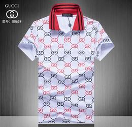 58be0e71e 19ss New Hot style famous Brand Men short sleeves Fashion polo shirts  Casual Designer Men famous brand T-shirt luxury polo shirt 99