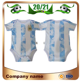 Discount messi kid jerseys 20 21 Argentina Americas Cup Home 2020 Baby Kids Kit Argentina Soccer Jersey 10 Messi Football Clothes 9-18 Months Shirt Uniforms