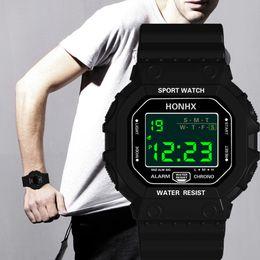 $enCountryForm.capitalKeyWord Australia - 2019 HONHX LED Men Sport Casual Watches Men's Digital Clock Man Army Silicone Wrist Waterproof Watch Relogio Masculino